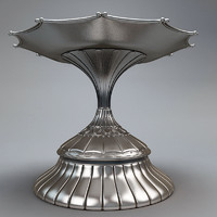 shiny silver metal plate 3d model