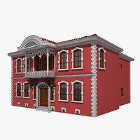 traditional ottoman house konya 3d model