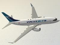 boeing 737-700 westjet 3ds