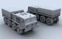 maz 535 towing truck 3d max