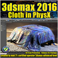 3ds max 2016 Cloth PhsyX vol 41 cd front