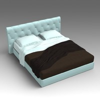 3d leather bed