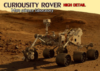 3d curiousity rover mars model