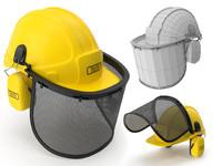 safety helmet face ears 3d model