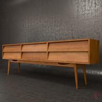 3d vintage sideboard model