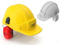3dsmax safety helmet ears cover