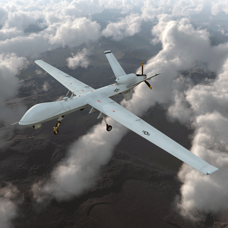 Unmanned Combat Air Vehicle MQ 9 Reaper UAV 3d model 01.jpg
