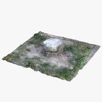 3d model stone grass scan