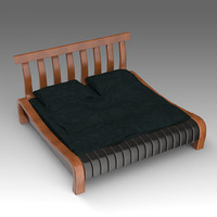wooden bed x