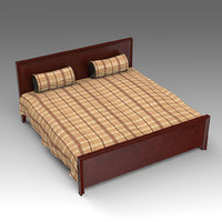 3ds max wooden bed