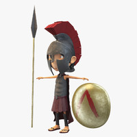 max spartan little warrior rigging animation