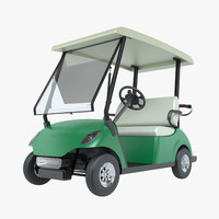 3ds photoreal golf cart