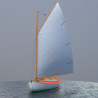 sailboat catboat sailing 3d model