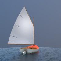 sailboat catboat sailing 3d max