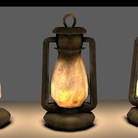Old Steel Lantern Textured