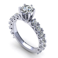 Cute Diamond Antique Wedding Ring