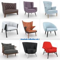 armchair vol 1 chair 3d max