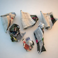 crumpled newspaper paper 3d max