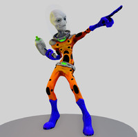 Game Ready Alien Character