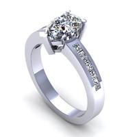 3d model of diamond ring