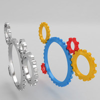 maya mechanical machine gears