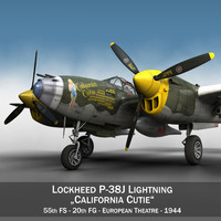 lockheed lightning - california 3d c4d
