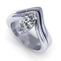 3d diamond ring model