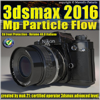 3ds max 2016 MP Particle Flow vol 46 cd front