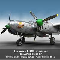 3d model lockheed lightning - glamour