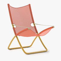 snooze deckchair chair 3d model