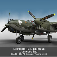 lockheed lightning - journeys 3d c4d
