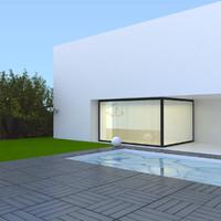 3ds max modern pool 12 decks