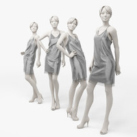 3d dress mannequin woman