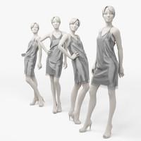 3d dress mannequin woman