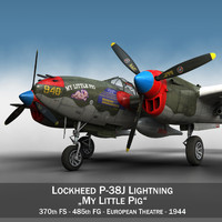 lockheed lightning - little 3d obj