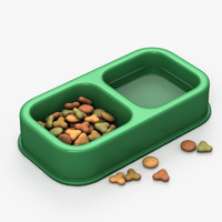3d model pet food bowl
