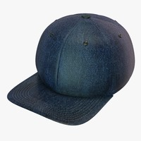 denim baseball cap 3d c4d