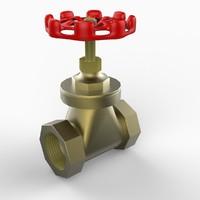 3d model gate valve