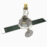 3d mariner 2 spacecraft model