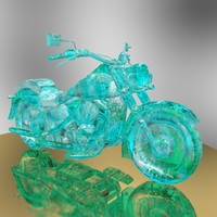 bike ice sculpture 3d max