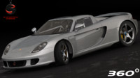 3d model porsche carrera gt 2003