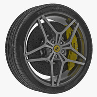 ferrari wheel 3d 3ds