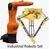industrial robots set 3d max