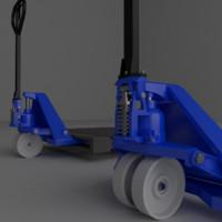 3d hand pallet jack truck model