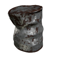 ready oil drum 3d model