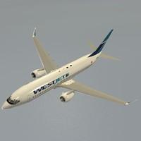 3d model boeing 737-800 westjet