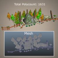 super environment pack games 3d model