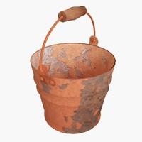 3d model rusty bucket