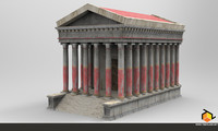 ancient temple fbx