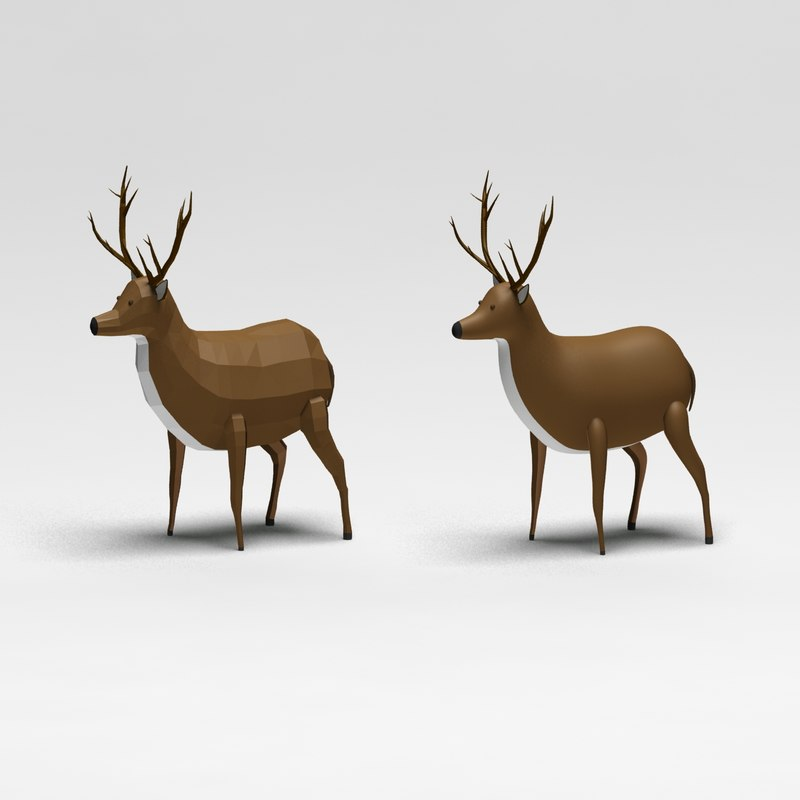Cartoon low poly deer photometric 41.jpg